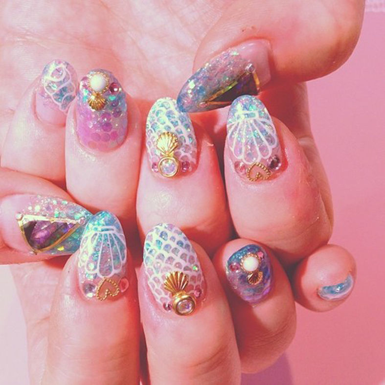 Mermaid Nail Art Adorable: Pretty Nail Art Pictures, Photos, And Images For Facebook