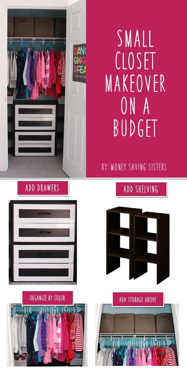 Small Closet Makeover On A Budget