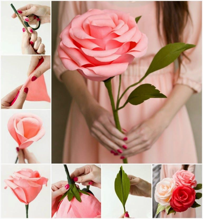 Цветы своими руками из бумаги фото
