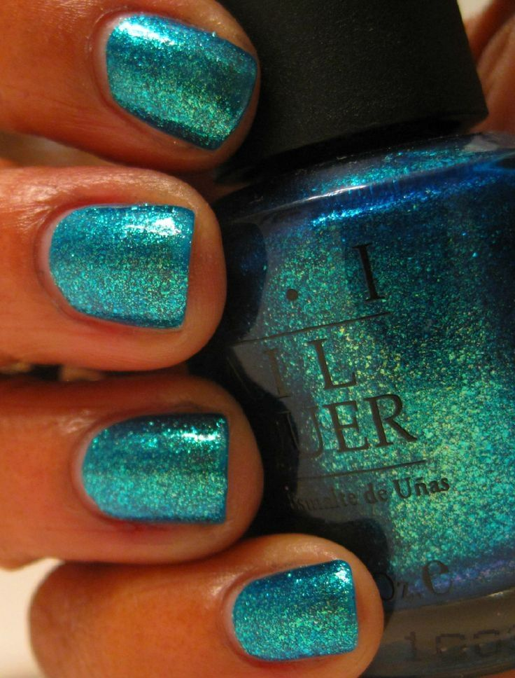 Teal Glitter Nails Pictures, Photos, and Images for ...
