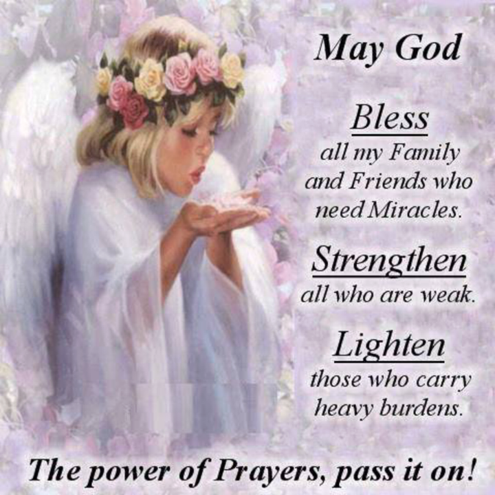 Prayer Quotes For Death In Family: May God Bless My Family And Friends Pictures, Photos, And