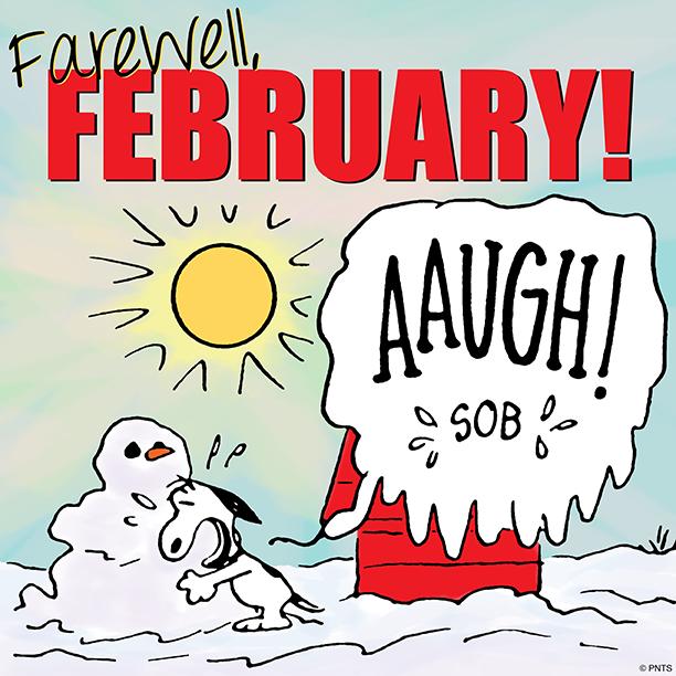 Farewell February