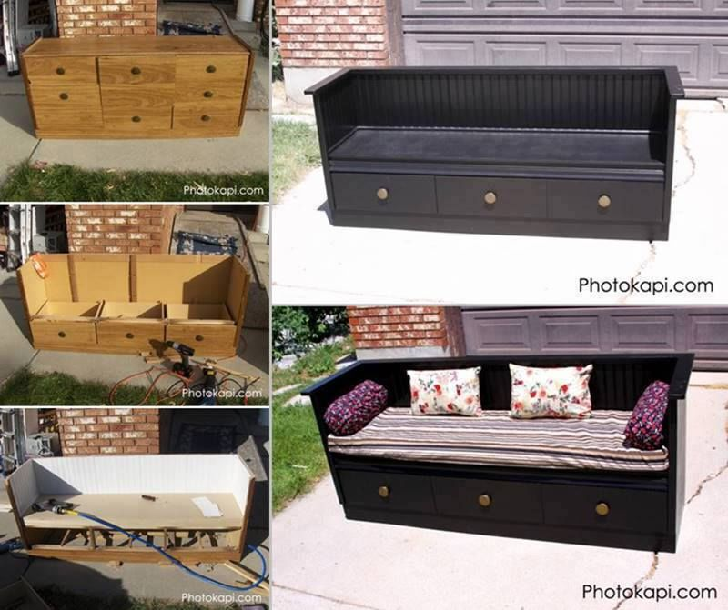 Turn Your Dresser Into A Bench