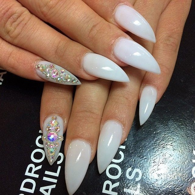 White Stiletto Nails Pictures, Photos, and Images for Facebook ...