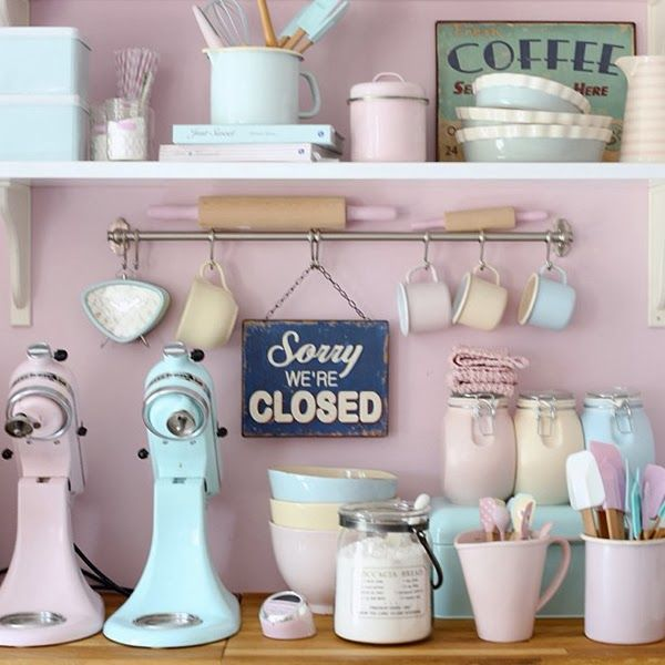 retro pastel kitchen accessories pictures photos and