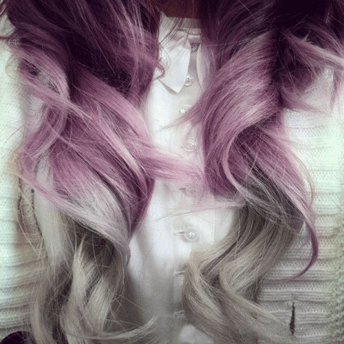 Purple And Gray Hair Pictures Photos And Images For