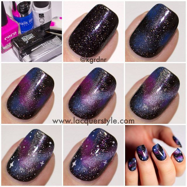 Galaxy manicure diy crafthubs diy galaxy nails pictures photos and images for facebook solutioingenieria Images