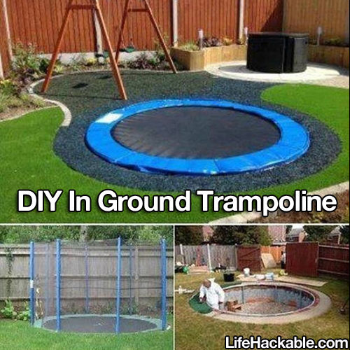 diy in ground trampoline pictures photos and images for facebook tumblr pinterest and twitter. Black Bedroom Furniture Sets. Home Design Ideas