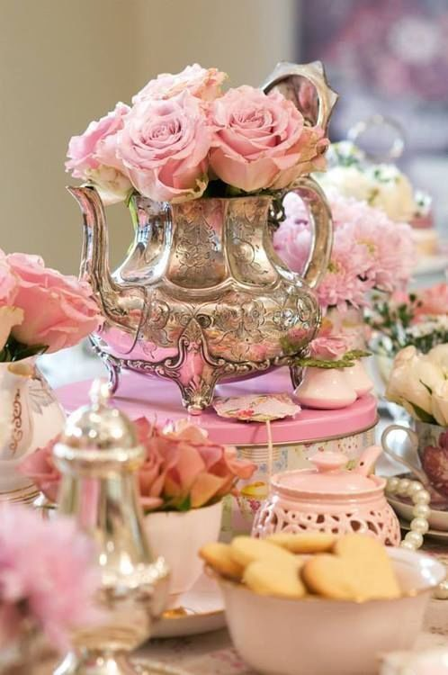 Beautiful Pink amp Silver Tea Party Pictures Photos And