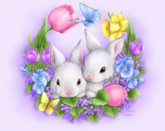 Easter Bunny Wreath By Penny Parker Pictures Photos And