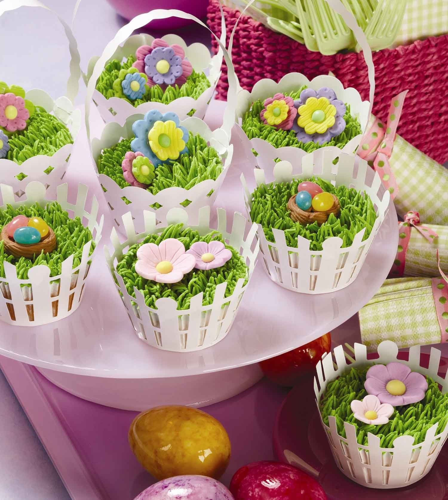 Easter basket cupcakes pictures photos and images for facebook easter basket cupcakes negle Images