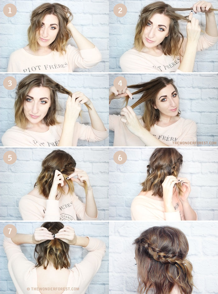Short Hair Messy Hair Braid Pictures Photos And Images For