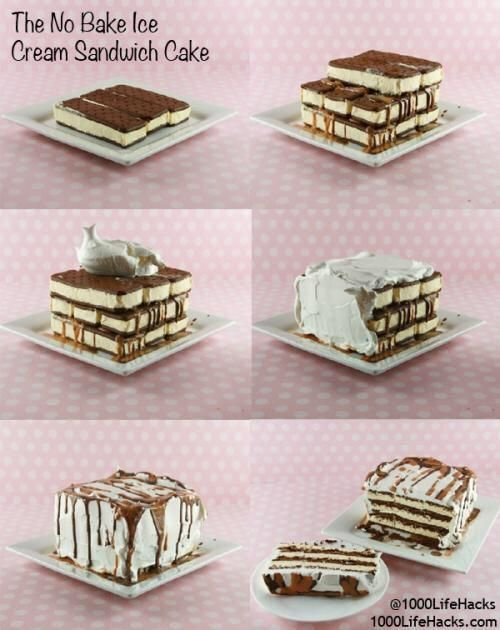 No Bake Ice Cream Sandwich Cake Pictures, Photos, and ...
