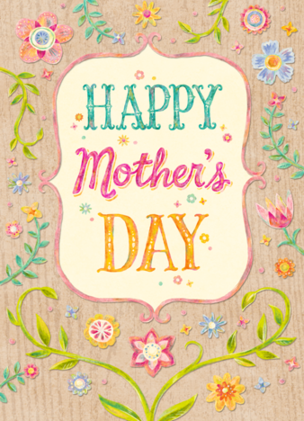 Kids can make fun, floral stamps with a pencil eraser. Press the eraser into an ink pad, and stamp polka dots onto a Mother's Day card. An adult can also cut the eraser with a .