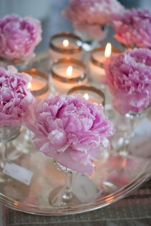 Peonies and candles pictures photos images for