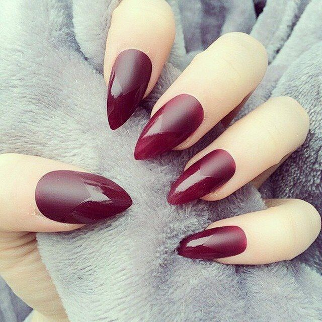Maroon Stiletto Nails Pictures, Photos, and Images for Facebook ...