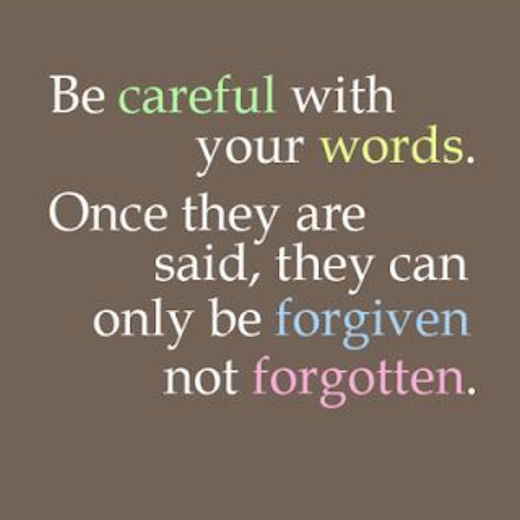 Be Careful With Your Words Pictures, Photos, And Images