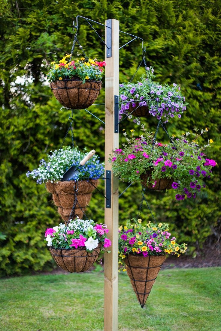 Diy Stand For Hanging Baskets Pictures Photos And Images For Facebook Tumblr Pinterest And Twitter
