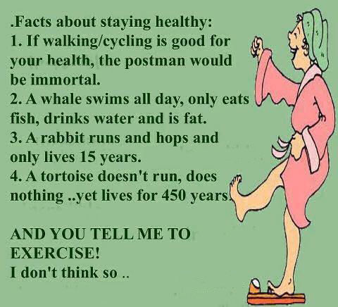Facts about staying healthy pictures photos and images for Funny tip of the day quotes
