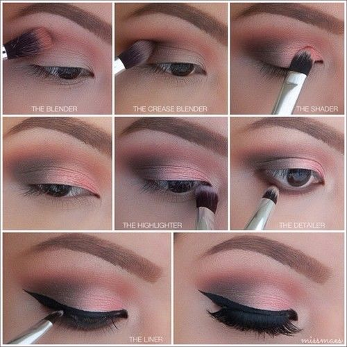 Step By Step Winged Eye Makeup Pictures, Photos, and ...