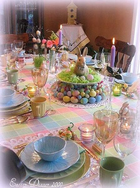 Beautiful easter dinner table pictures photos and images for facebook tumblr pinterest and - Easter table decorations meals special ...