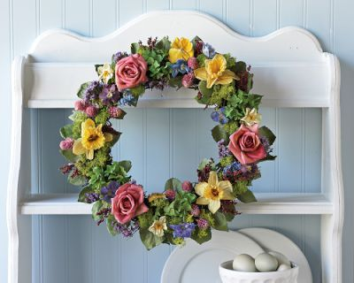 Charming English Cottage Garden Wreath