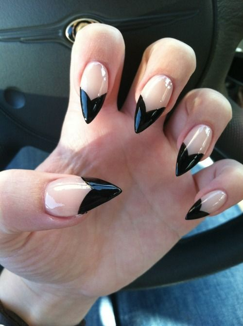 Images Of Black Tip Nails Tumblr