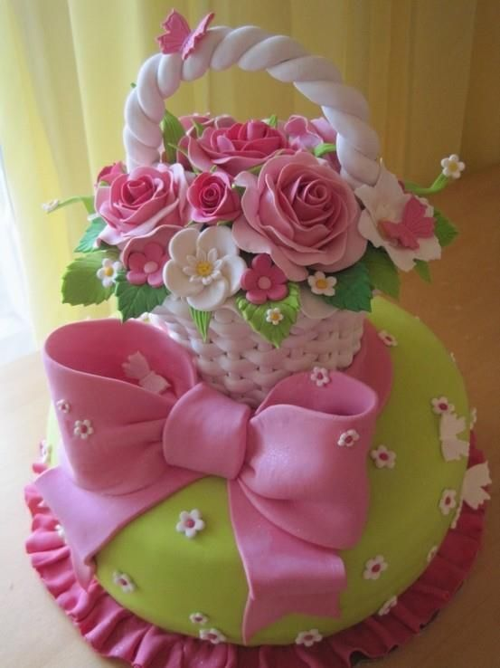 Pretty easter basket cake pictures photos and images for facebook pretty easter basket cake negle Gallery