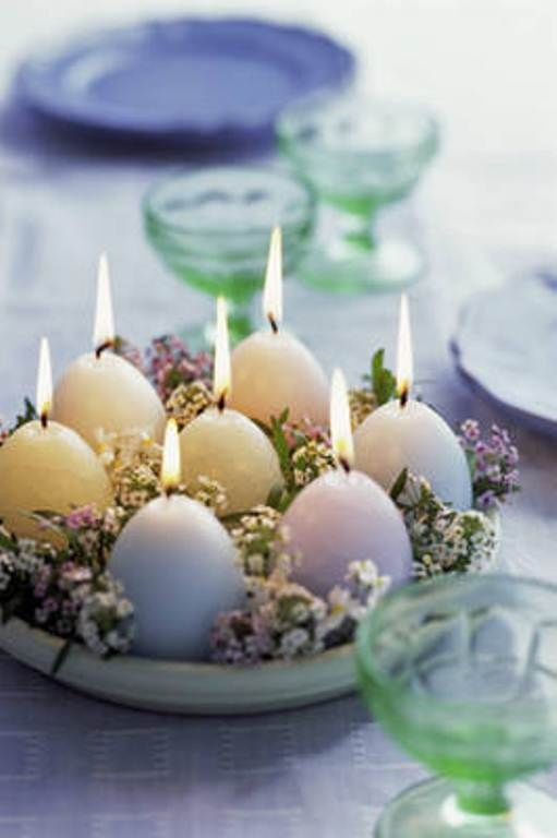 Easter egg candle centerpiece pictures photos and images
