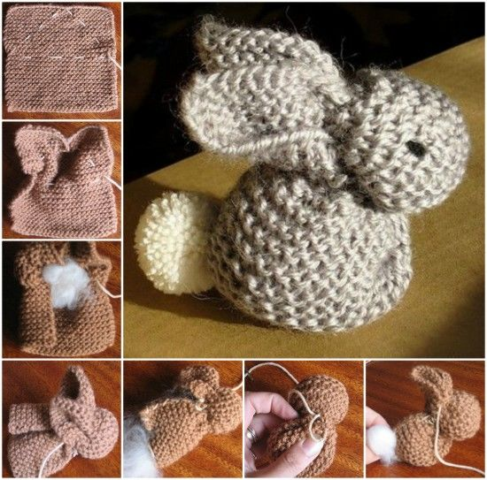 Knitting Patterns For Pet Rabbits : How To Knit An Easter Bunny Pictures, Photos, and Images for Facebook, Tumblr...