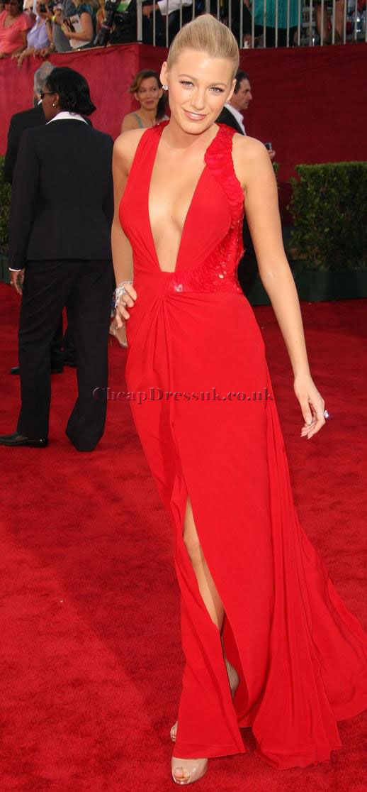 Long Red Column Sequined Sexy Chiffon Celebrity Dress Pictures ...