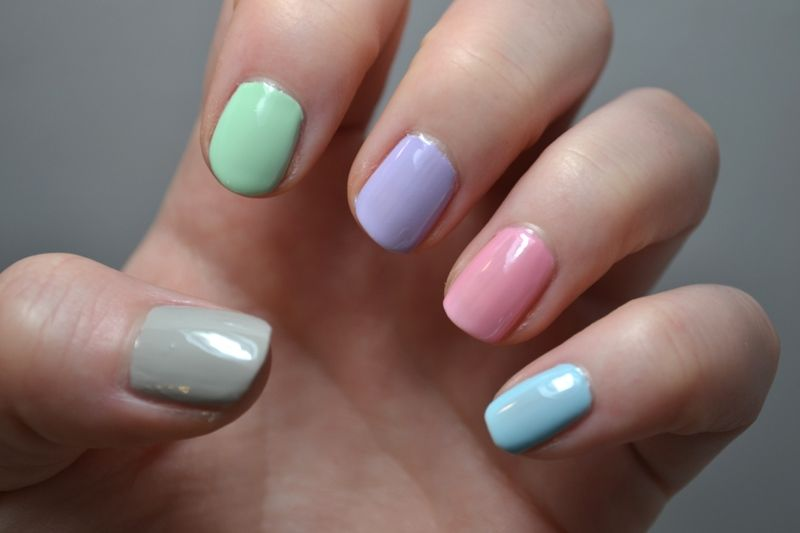 Individual Pastel Colored Nails For Easter Pictures, Photos, and ...
