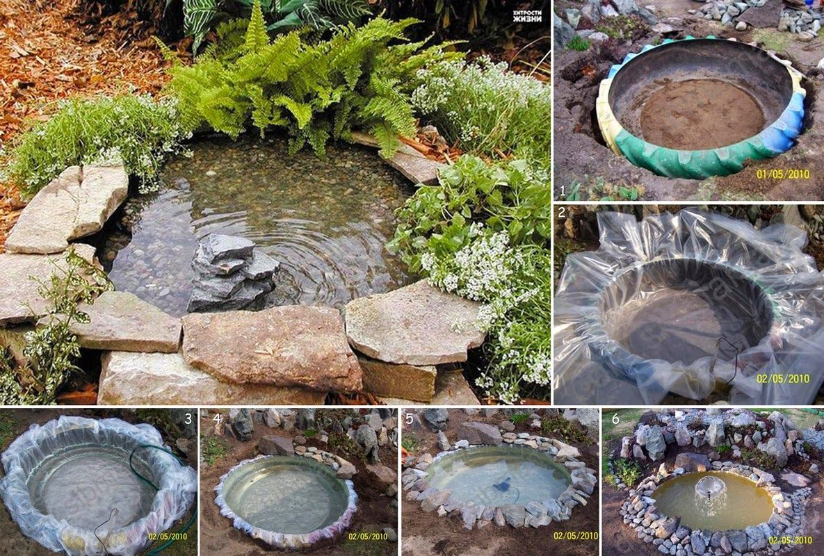 Easy diy decorative pond pictures photos and images for for Do it yourself pond