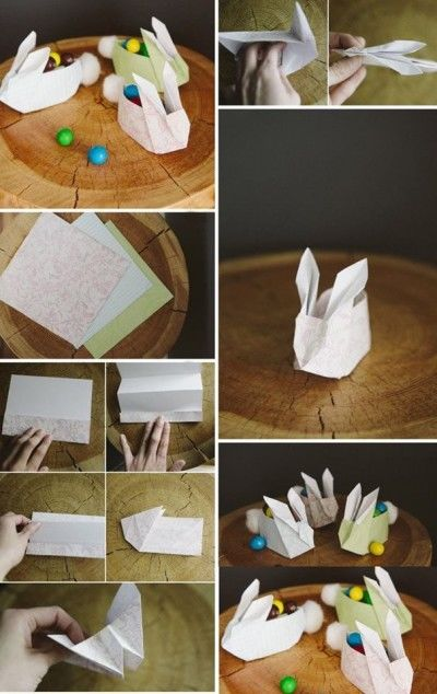 Easy DIY Origami Easter Bunnies | Shelley Makes | 634x400