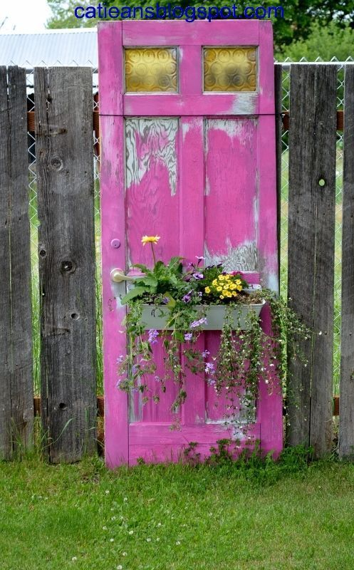 repurposed old door as a flower planter pictures  photos  and images for facebook  tumblr