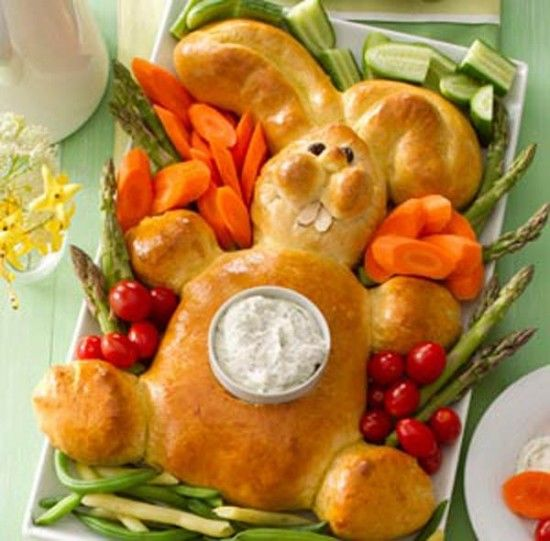 Easter Bunny Bread With Dip Pictures, Photos, and Images for Facebook ...