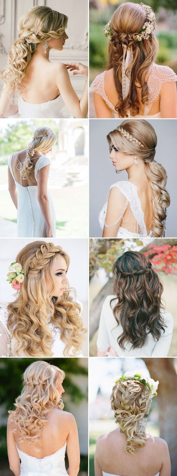 Half Up Half Down Wedding Hairstyles Pictures, Photos, and Images ...
