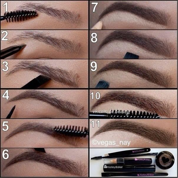 Diy Thicker Sharper Eyebrows Tutorial Pictures Photos