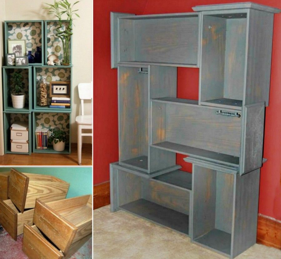 Diy Drawers Into Book Shelves Pictures Photos And Images