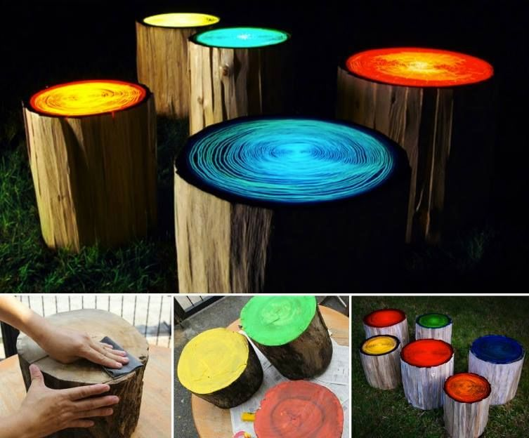 Diy Glowing Tree Stumps Pictures Photos And Images For