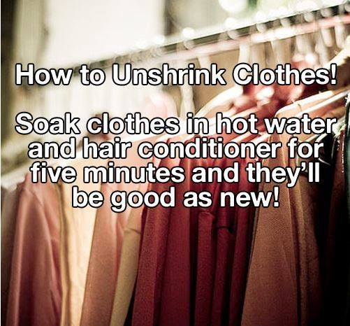 How To Unshrink Clothes Pictures Photos And Images For Facebook Tumblr Pinterest And Twitter