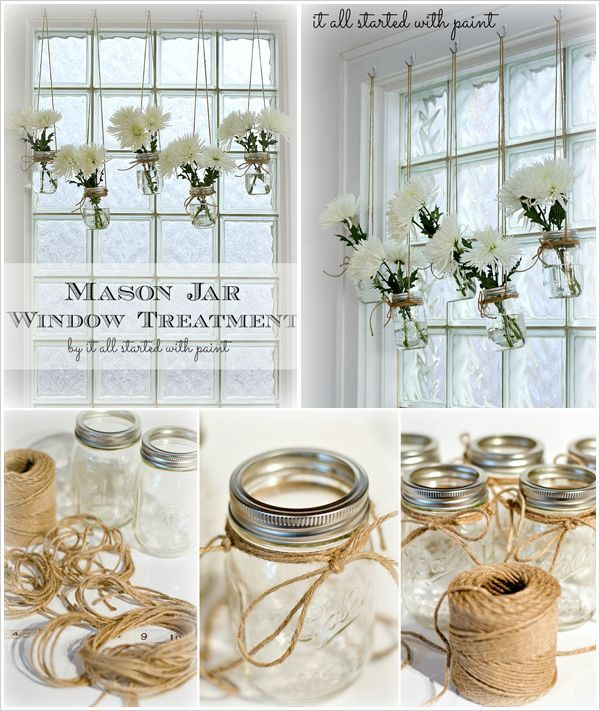 Home Diy: DIY Mason Jar Window Treatment Pictures, Photos, And