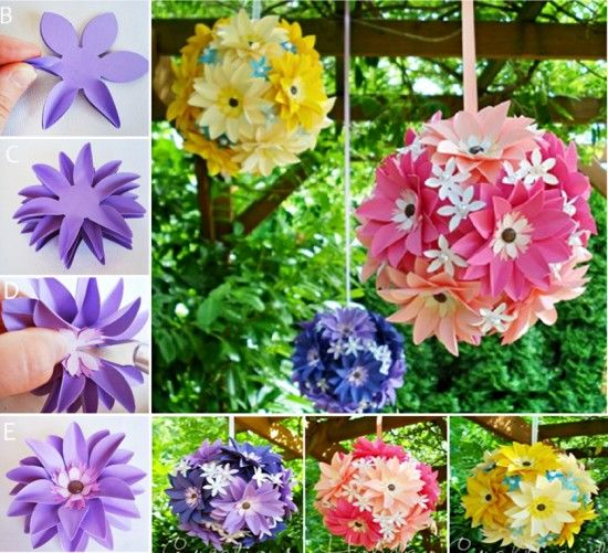 Diy hanging paper flower decorations best diy do it your self diy hanging paper flowers pictures photos and images for facebook mightylinksfo