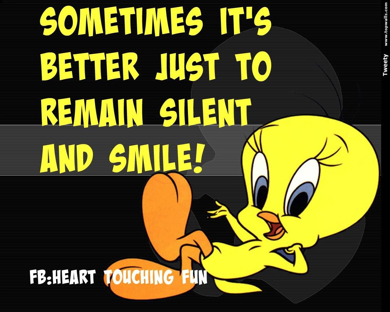 Reanain Silent And Smile