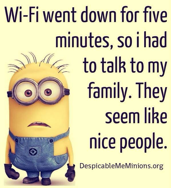 Perfect Wifi Went Down Joke