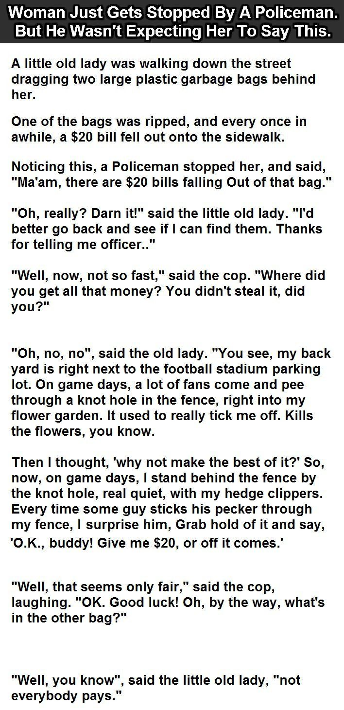 Woman Get Stopped By A Police Offer Funny Joke Pictures