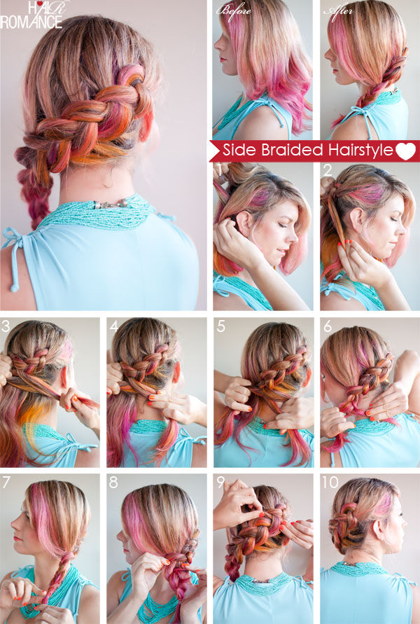 DIY Side Braid Pictures Photos And Images For Facebook Tumblr - Braid diy pinterest