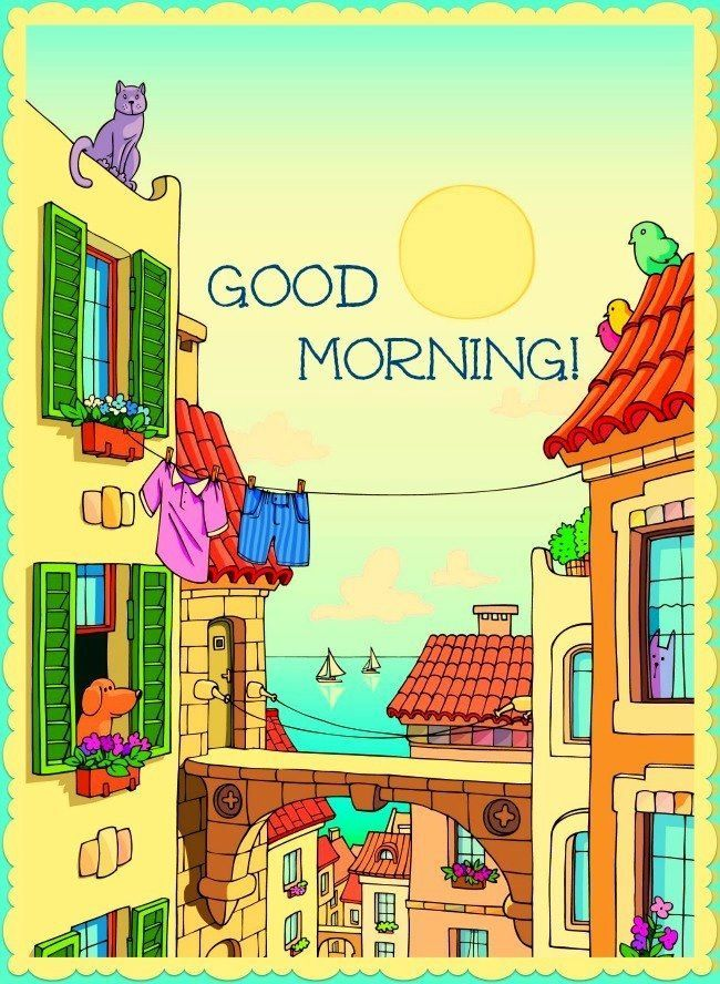 Cartoon good morning pictures photos and images for facebook cartoon good morning m4hsunfo