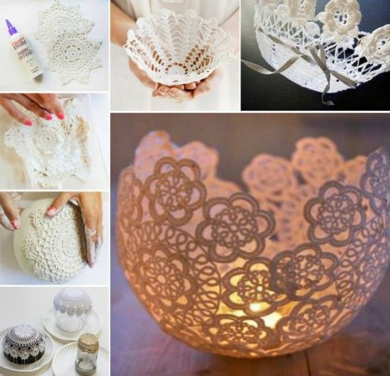 Diy Doily Bowls Pictures Photos And Images For Facebook