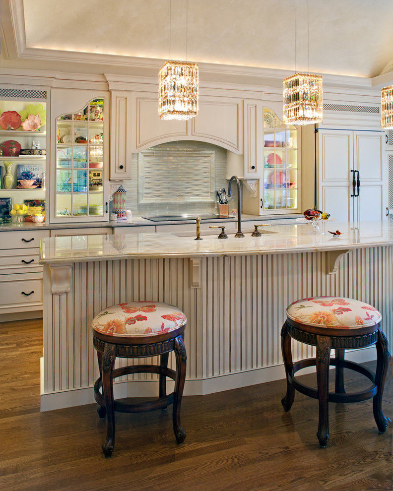 Kitchen Made Bright With Pretty Chandeliers Pictures